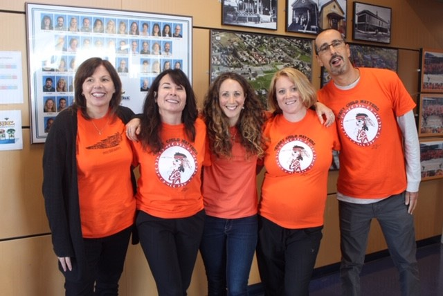 Staff wearing Orange Shirt Day
